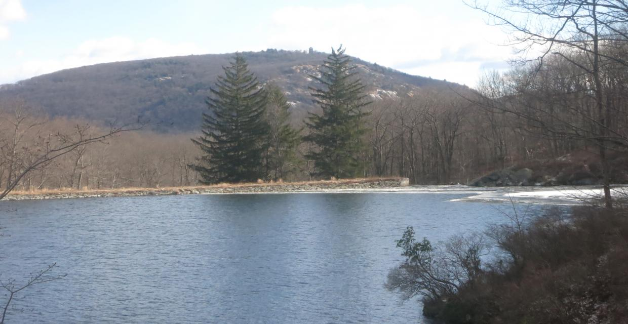 Turkey Hill Lake with Bear Mountain in the background - Photo by Daniel Chazin
