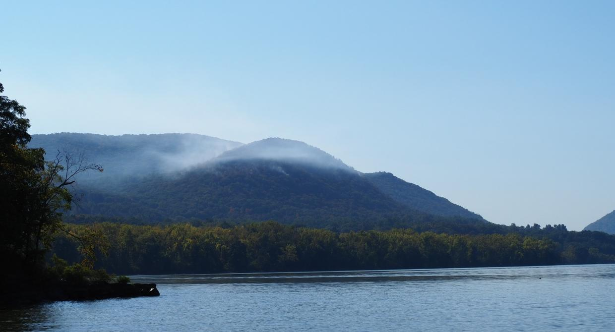 A fire burned on Sugarloaf Mountain in Hudson Highlands State Park Preserve on Sept. 21, 2019. Photo by Hank Osborn.