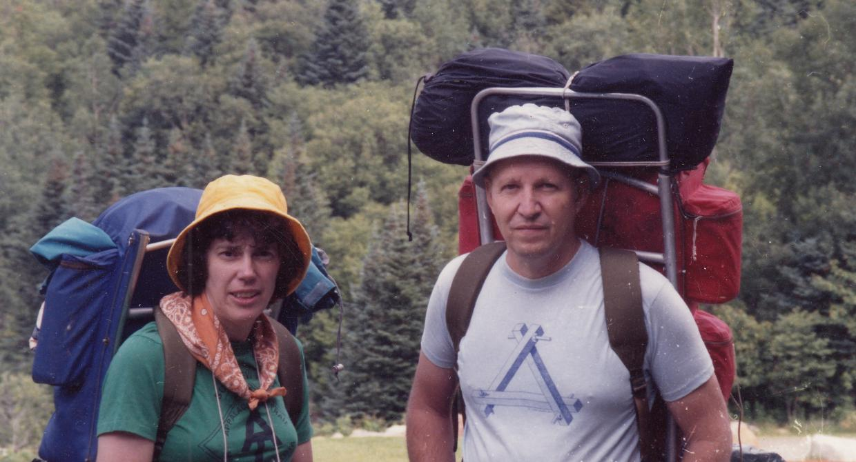 Jane and Walt Daniels on their Appalachian Trail section hike in 1992. Photo by Karen Daniels.