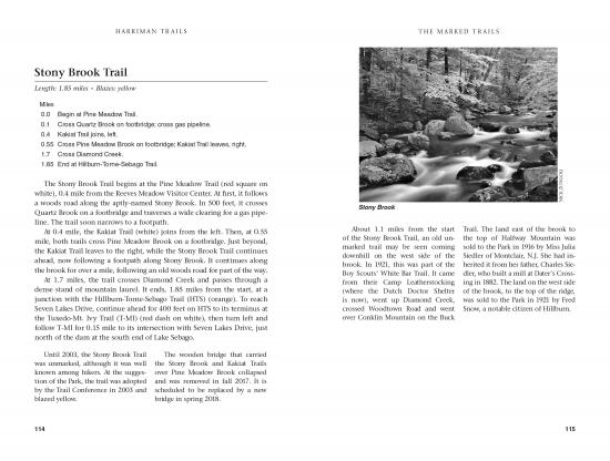 Harriman Trails 2018 Example Chapter Spread